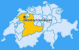 Karte von Diessbach bei Büren