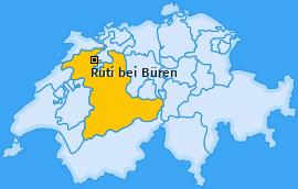 Karte von Rüti bei Büren