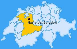 Karte von Hasle bei Burgdorf