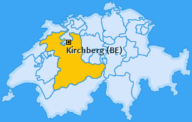 Karte von Kirchberg (BE)