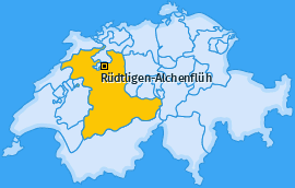 Karte von Rüdtligen-Alchenflüh