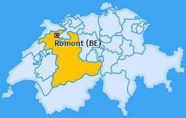 Karte von Romont (BE)