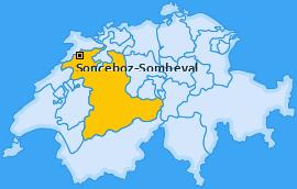 Karte von Sonceboz-Sombeval