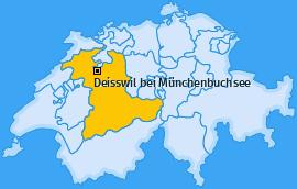 Karte von Deisswil bei Münchenbuchsee