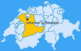 Karte von Urtenen-Schönbühl