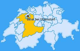 Karte von Wiler bei Utzenstorf