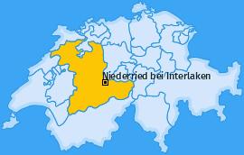 Karte von Niederried bei Interlaken