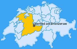Karte von Oberried am Brienzersee