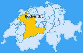 Karte von Roches (BE)