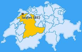 Karte von Saules (BE)