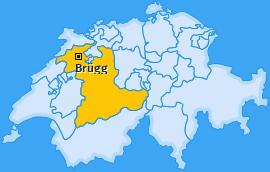 Karte von Brügg
