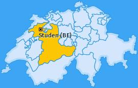 Karte von Studen (BE)