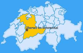 Karte von Oberwil im Simmental