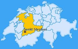 Karte von Sankt Stephan