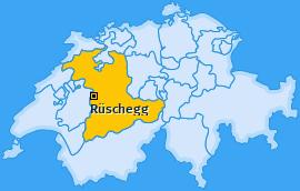 Karte von Rüschegg