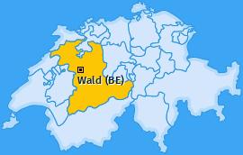 Karte von Wald (BE)
