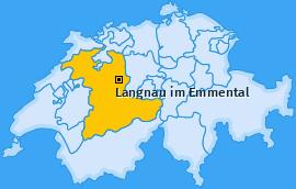 Karte Oberfrittenbach Langnau im Emmental
