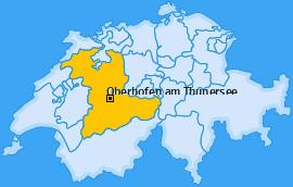 Karte von Oberhofen am Thunersee