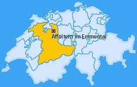 Karte von Affoltern im Emmental