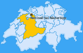 Karte von Walliswil bei Niederbipp