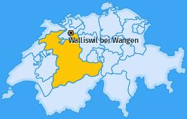 Karte von Walliswil bei Wangen