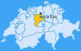 Karte von Aesch (LU)