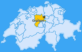 Karte von Gisikon