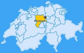 Karte von Honau