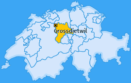 Karte von Grossdietwil