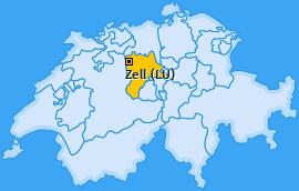 Karte von Zell (LU)