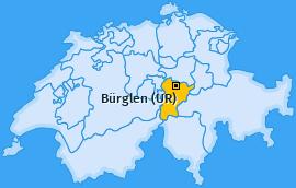 Karte von Bürglen (UR)