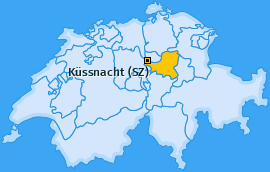 Karte von Küssnacht (SZ)