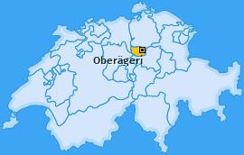 Karte von Oberägeri