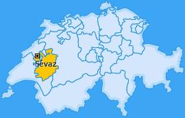 Karte von Sévaz
