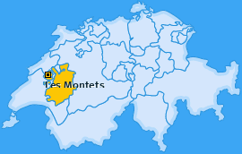 Karte von Les Montets