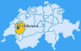 Karte von Le Châtelard