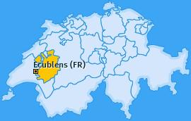 Karte von Ecublens (FR)