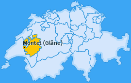 Karte von Montet (Glâne)