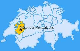 Karte von Châtel-sur-Montsalvens