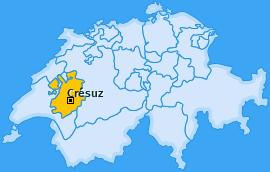 Karte von Crésuz