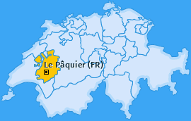 Karte von Le Pâquier (FR)