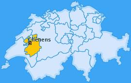 Karte von Chénens
