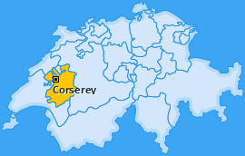 Karte von Corserey
