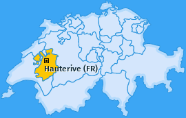 Karte von Hauterive (FR)