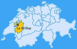 Karte von La Brillaz