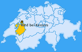 Karte von Ried bei Kerzers