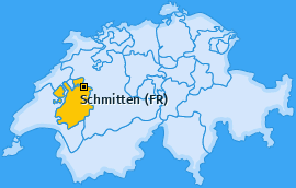 Karte von Schmitten (FR)
