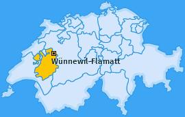Karte von Wünnewil-Flamatt