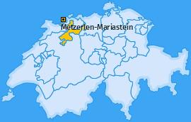 Karte von Metzerlen-Mariastein