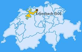 Karte von Erlinsbach (SO)